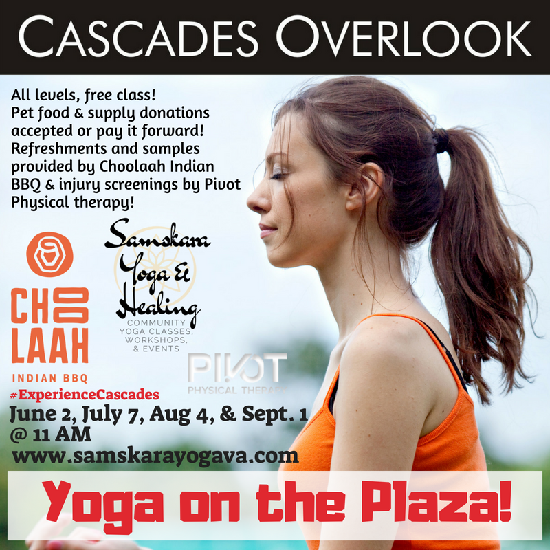 Yoga on the Plaza! Cascades Overlook in Sterling