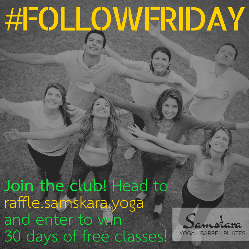 Win 30 Days of Classes at Samskara! Yoga, Barre, Pilates, Kids Yoga, & More.
