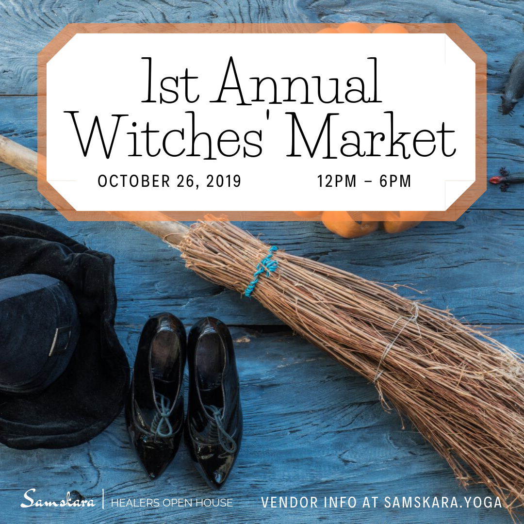 Witches Market Healers Open House Samskara Yoga Dulles Sterling Ashburn Chantilly Herndon