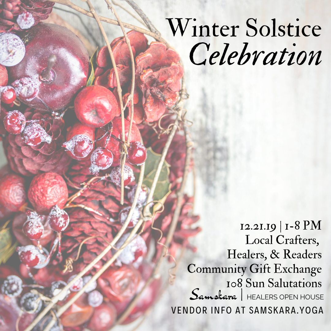 Winter Solstice Yule Market Healers Open House Samskara Yoga Dulles Sterling Ashburn Chantilly Herndon