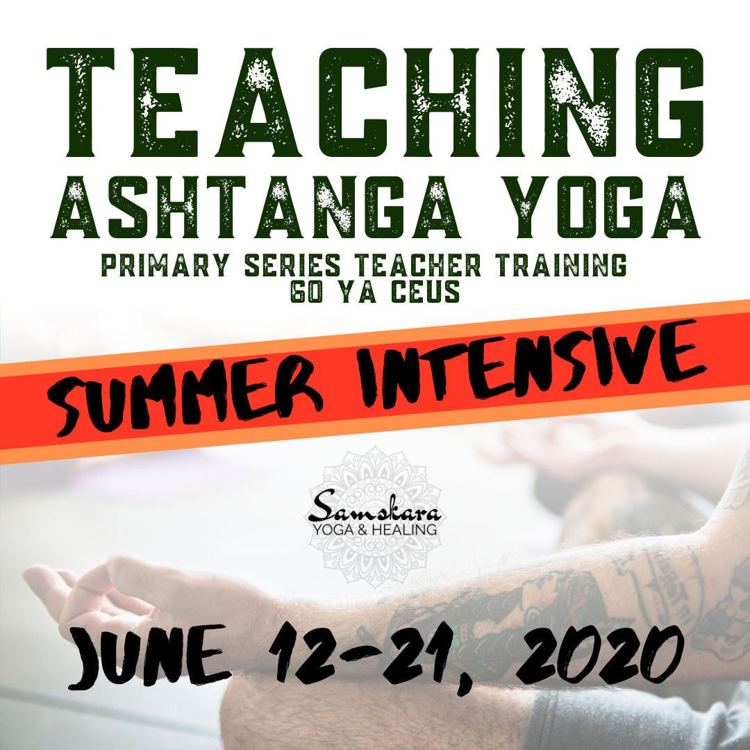 Ashtanga teacher training summer intensive ashburn dulles sterling herndon chantilly leesburg