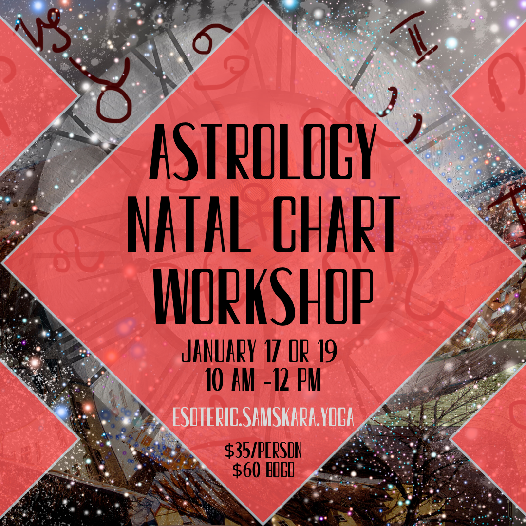 Astrology Natal Chart Workshop
