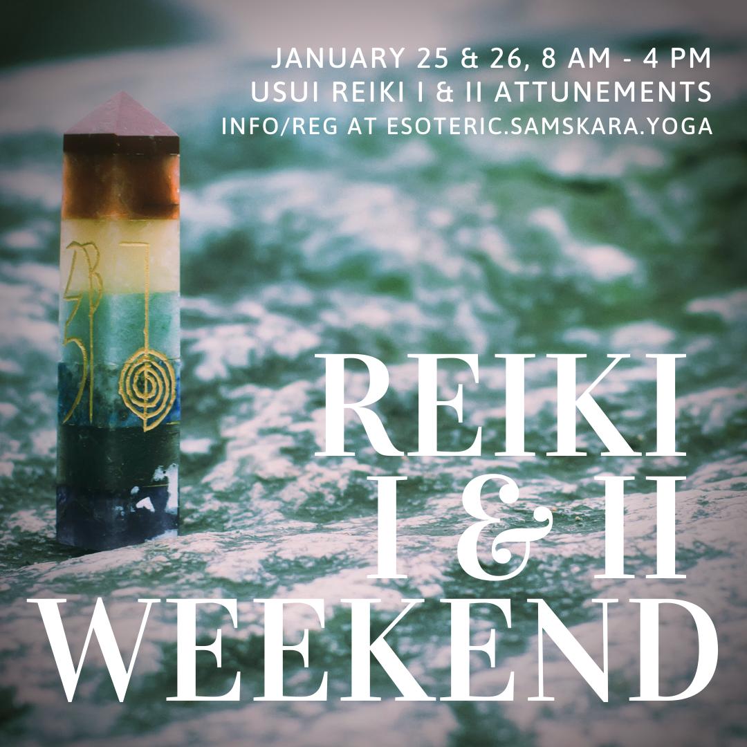Reiki I & II Weekend Intensive with Calming Winds