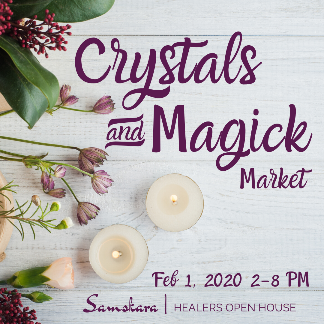 Crystals and Magic market imbolc samskara yoga dulles ashburn sterling