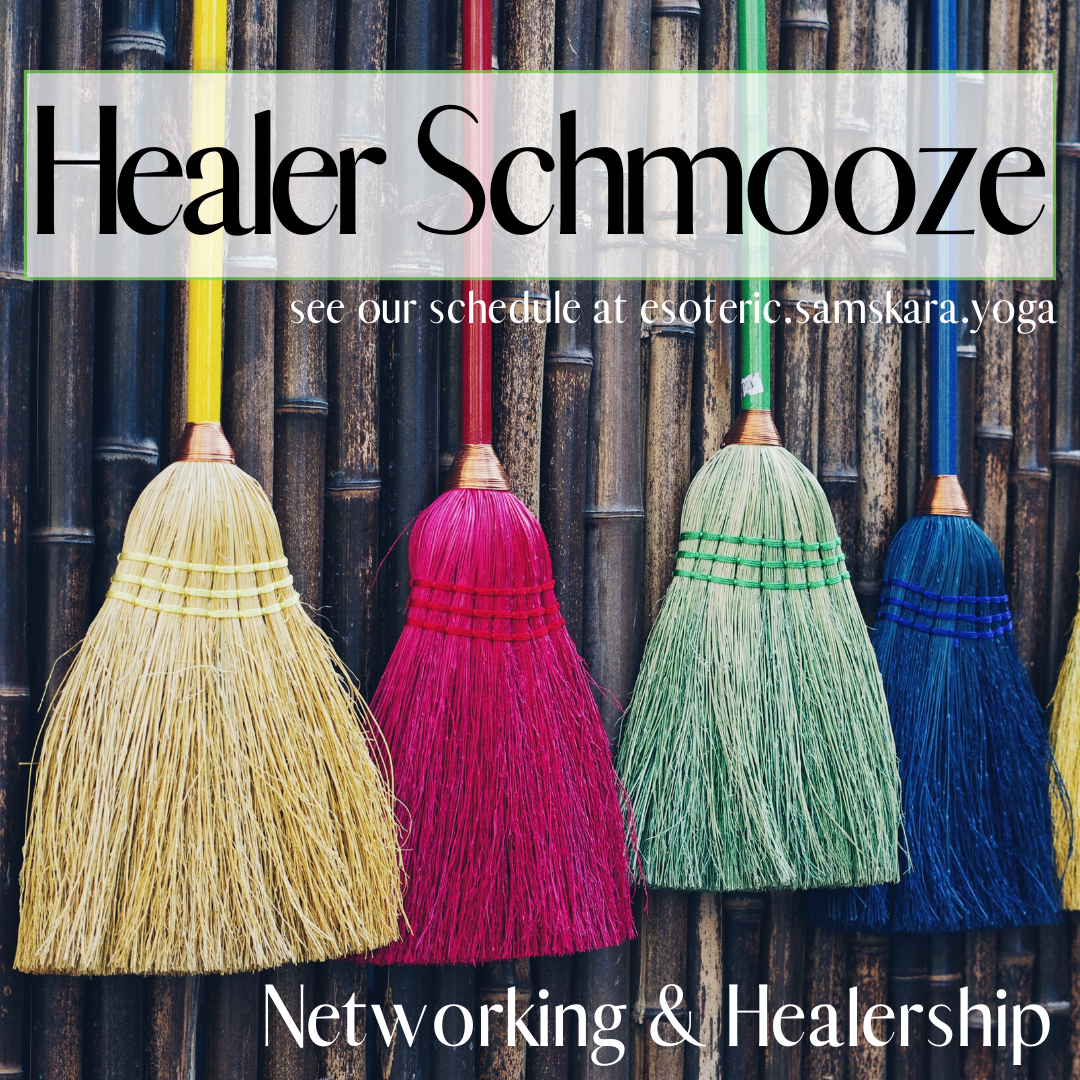 Healer Schmooze networking for healers energy workers mediums card readers and esoterics