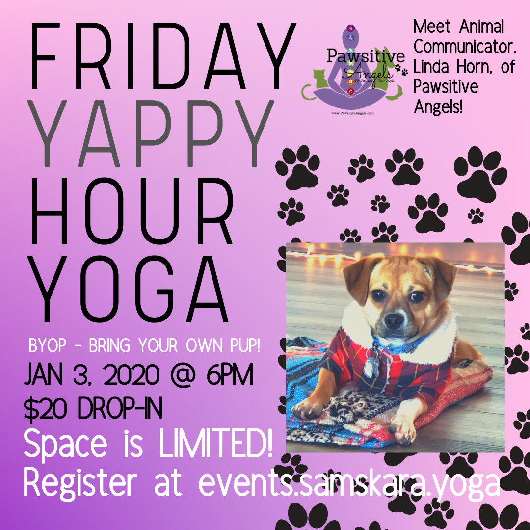 Yappy Hour Yoga at Samskara Yoga & Healing