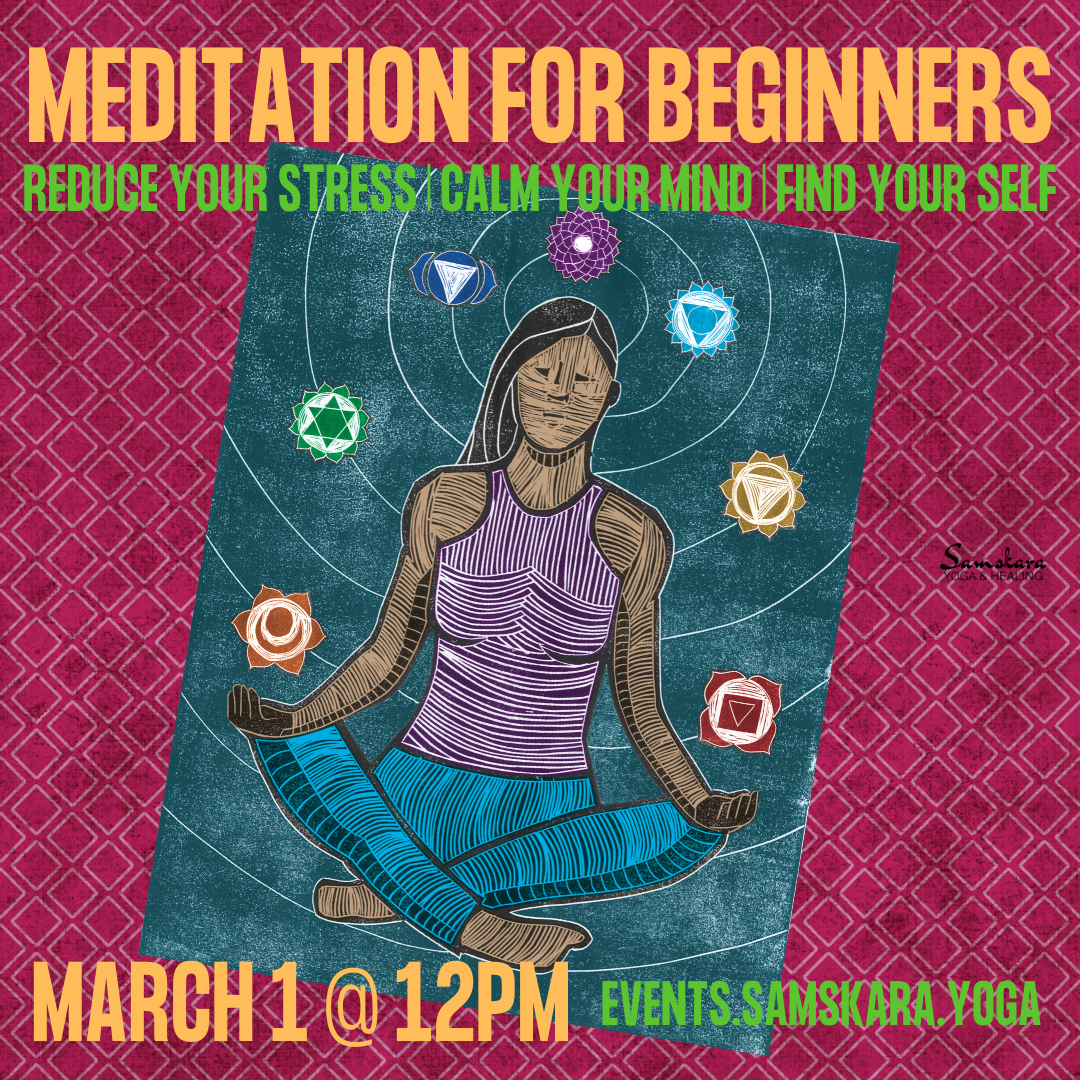 Meditation for Beginners at Samskara Yoga & Healing ashburn sterling dulles herndon chantilly leesburg