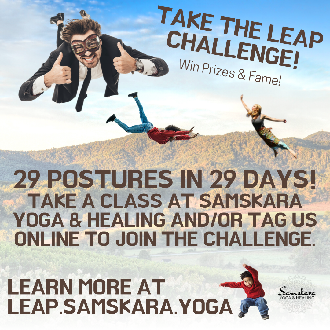 February Take a Leap Yoga Challenge at Samskara Yoga & Healing