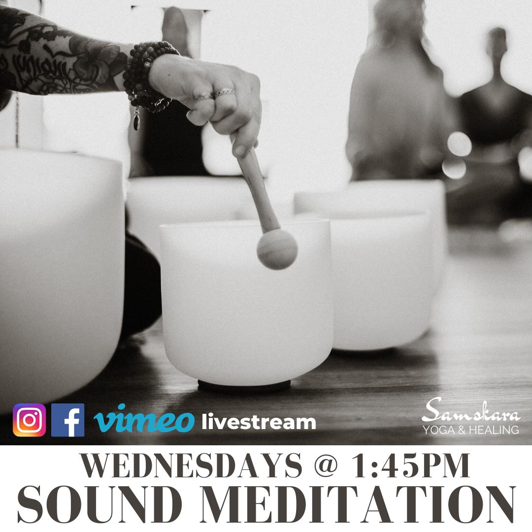 Wednesday Community Sound Meditation at Samskara Yoga & Healing