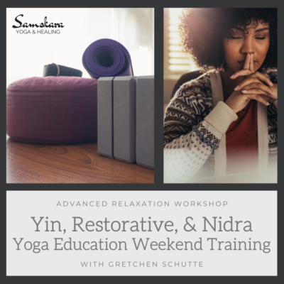virtual yoga nidra, yin, restorative training dulles virginia CEU yoga alliance